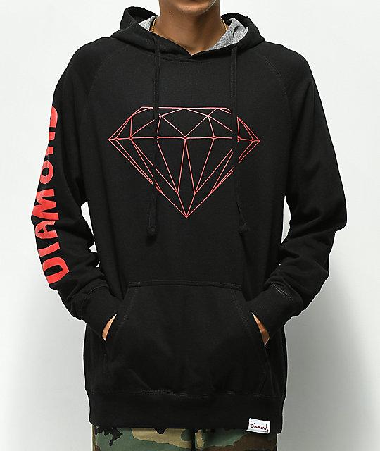 9a70b41fc Diamond Supply Co. Brilliant Black & Red Hoodie | Zumiez