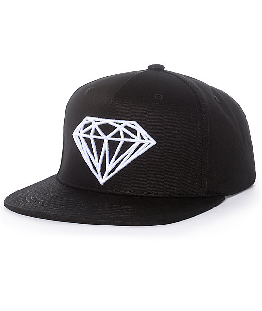 official photos 409bf 8406a Diamond Supply Co. Brilliant Black   White Snapback Hat   Zumiez