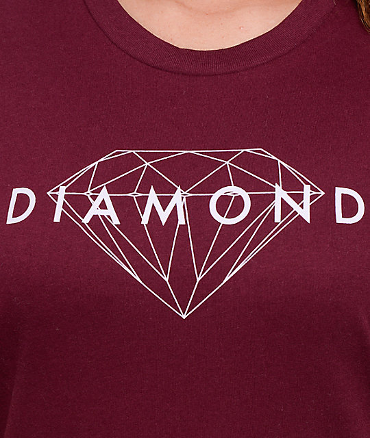 Diamond Supply Co. Brilliant Diamond Burgundy T-Shirt