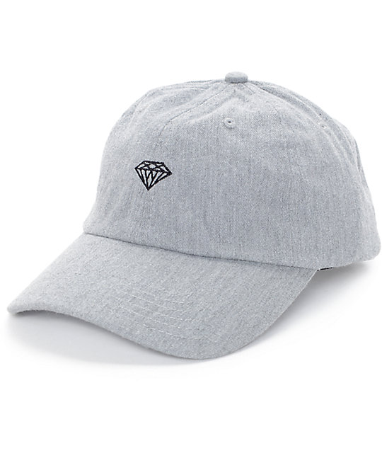 Diamond Supply Co. Brilliant Heather Grey Strapback Hat  bd7ac2c523b