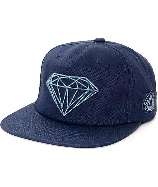 Diamond Supply Co. Brilliant Navy Snapback Hat  1ffa7f5a28c0