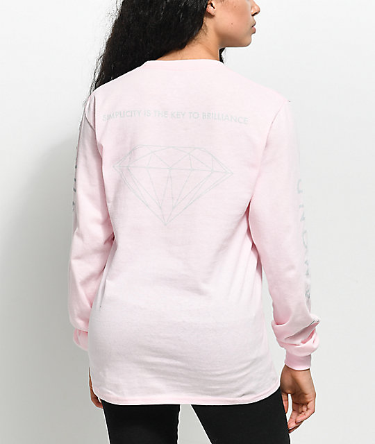 Diamond Supply Co. Brilliant Pink Long Sleeve T-Shirt