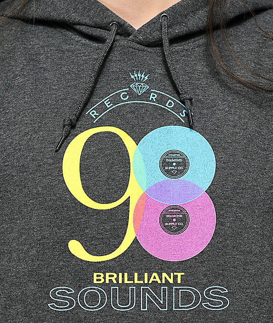 Diamond Supply Co. Brilliant Sounds Charcoal Hoodie