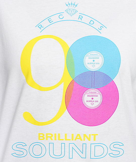 Diamond Supply Co. Brilliant Sounds White Long Sleeve T-Shirt