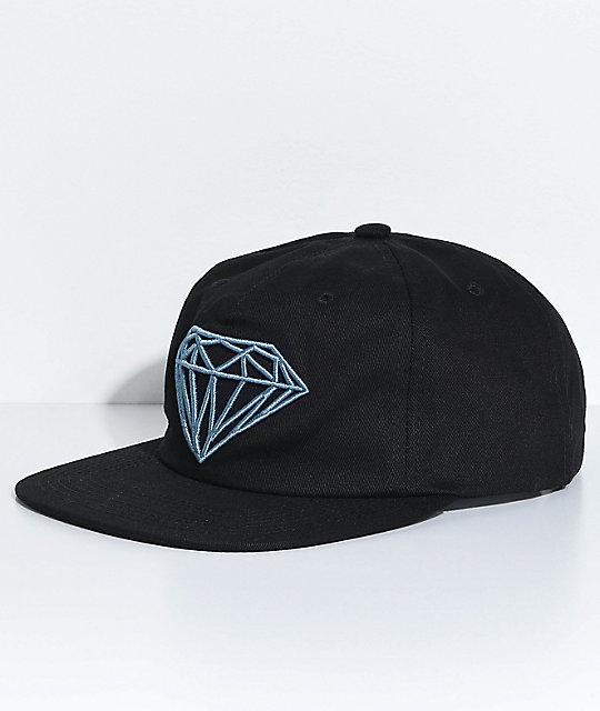 best cheap cb3e4 40fb6 Diamond Supply Co. Brilliant Unstructured Black Snapback Hat   Zumiez