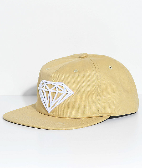 best loved 3a21a 6e317 Diamond Supply Co. Brilliant Unstructured Khaki Snapback Hat   Zumiez
