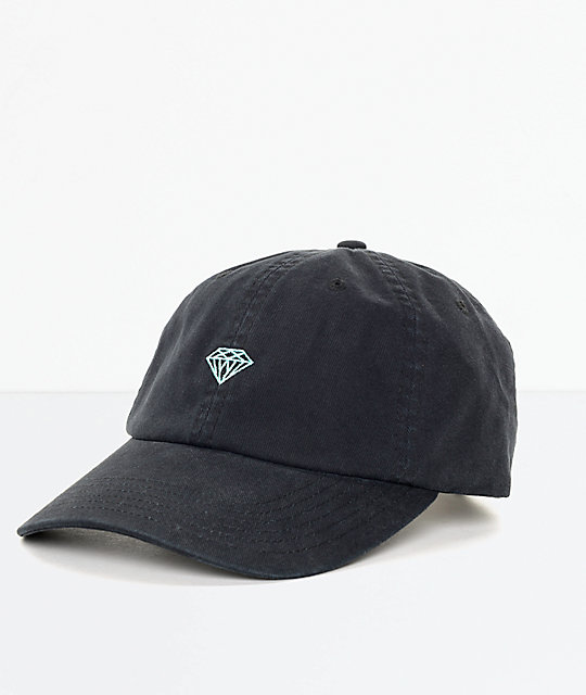 Diamond Supply Co. Brilliant gorro strapback en negro y azul