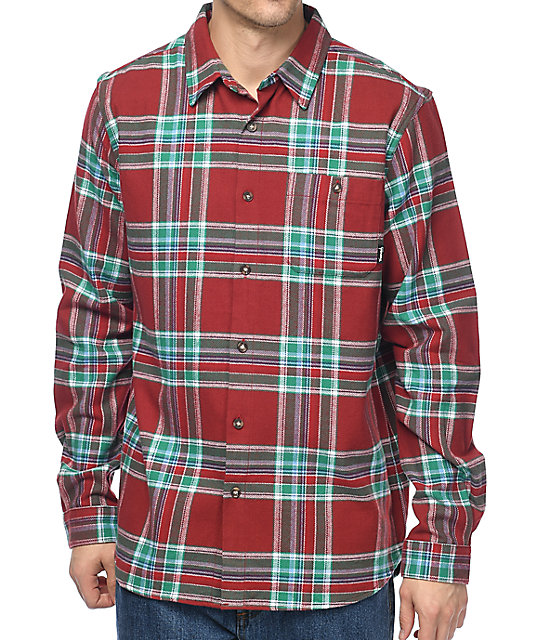 Diamond Supply Co. Burgundy Flannel Shirt