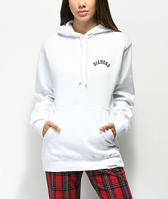 Diamond Supply Co. Camo Arch Logo White Hoodie