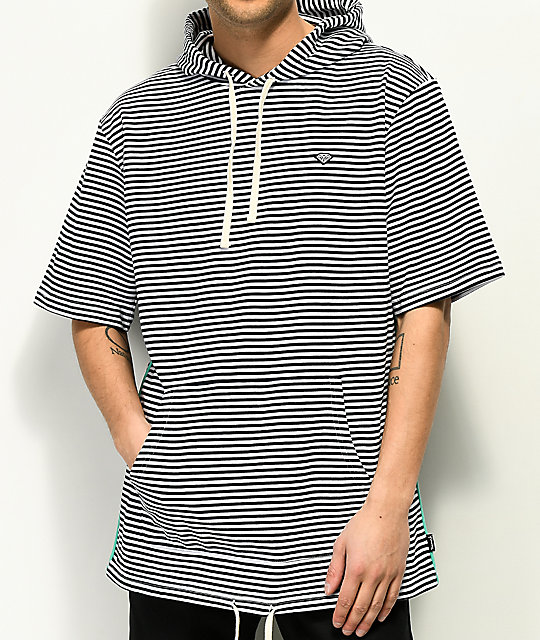 Diamond Supply Co. Cast Away sudadera con capucha de manga corta a rayas