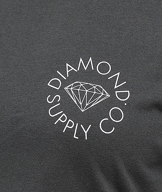 Diamond Supply Co. Circle Logo Charcoal T-Shirt