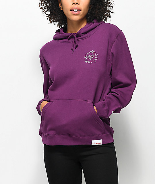 Diamond Supply Co. Circle Logo Dark Purple Hoodie