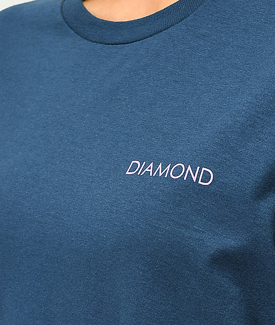 Diamond Supply Co. Circle Logo Washed Navy T-Shirt