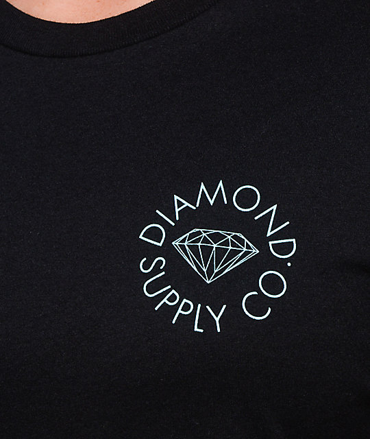 Diamond Supply Co. Circle Logo camiseta negra