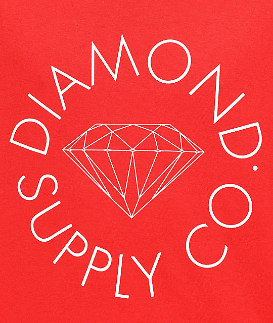Diamond Supply Co. Circle Logo camiseta roja