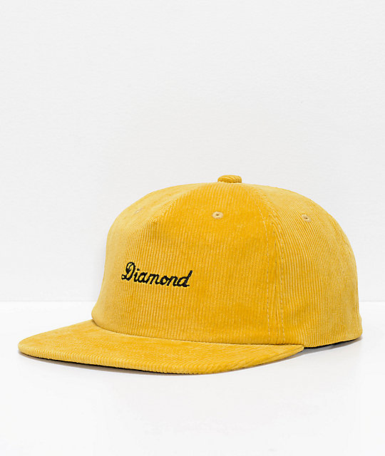 new concept f378c 71002 germany diamond hats at zumiez sr c1f4c 98f00  release date diamond supply  co. city script gold corduroy snapback hat d4cc4 34642