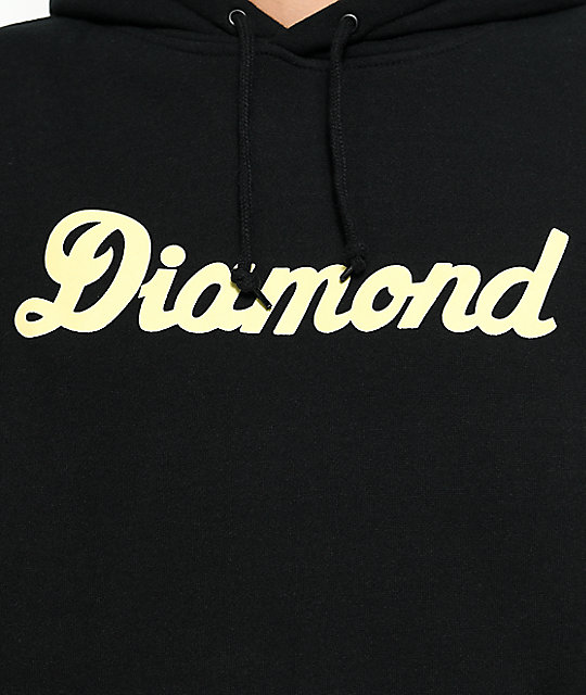 Diamond Supply Co. City Script sudadera negra con capucha