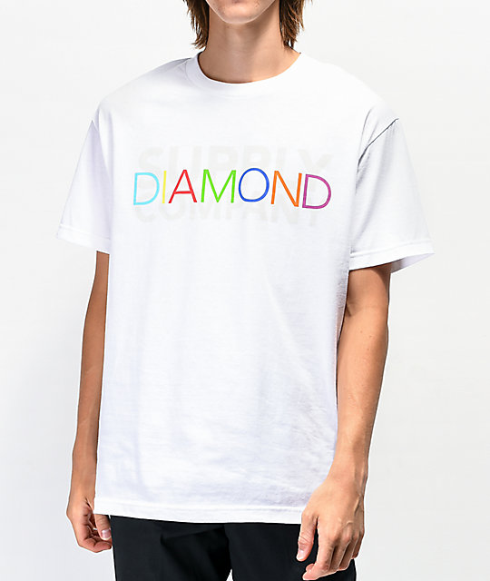 Diamond Supply Co. Colors White T-Shirt