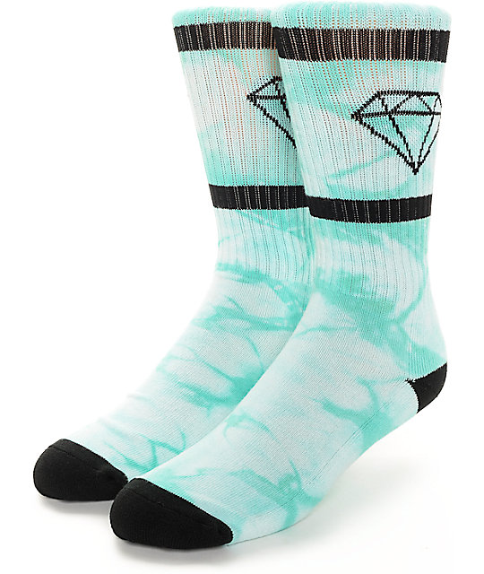 Diamond Supply Co. Diamond Rock Sport Crystal Blue Crew Socks