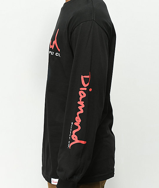 Diamond Supply Co. Diamond Snake Black Long Sleeve T-Shirt