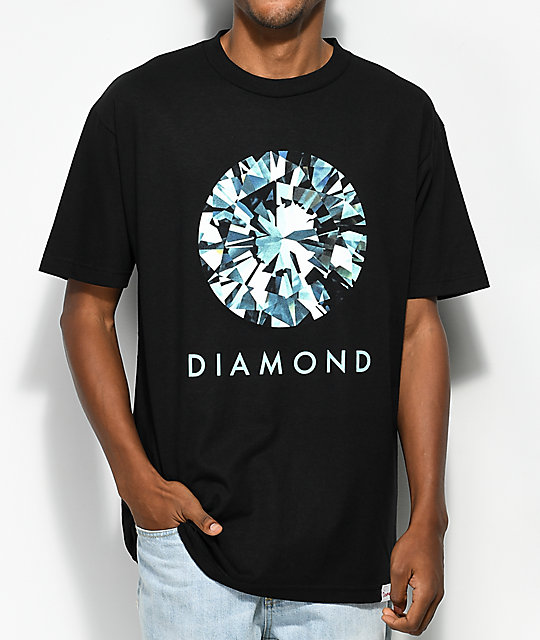Diamond Supply Co. Dispersion camiseta negra