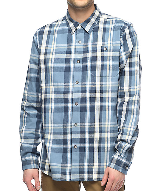 Diamond Supply Co. Embarcadero camisa azul de franela