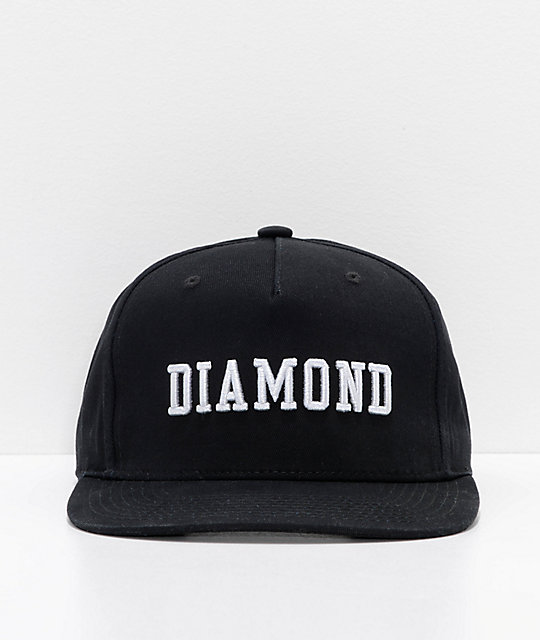 Diamond Supply Co. Fordham Black Snapback Hat