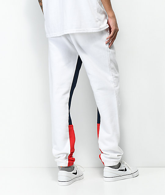Diamond Supply Co. Fordham White, Red & Navy Sweatpants