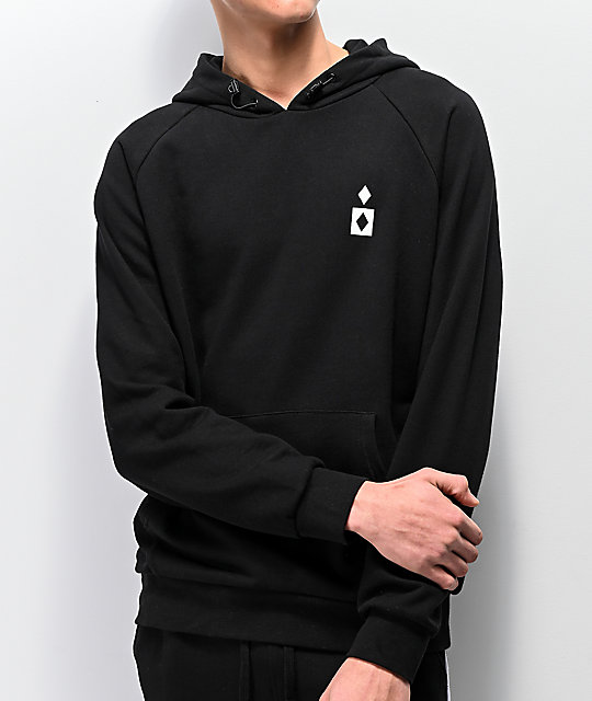 Diamond Supply Co. Fordham sudadera con capucha negra