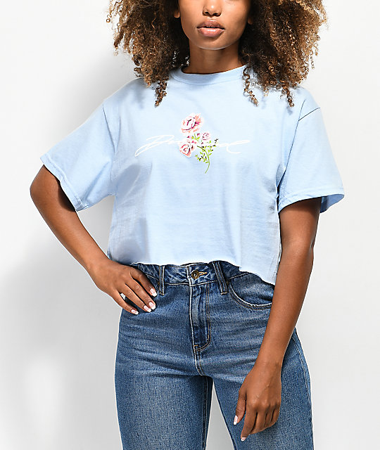 Diamond Supply Co. Garden Baby Blue Crop T-Shirt