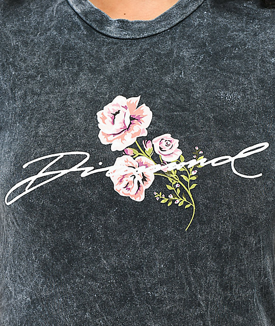 Diamond Supply Co. Garden Black Wash T-Shirt