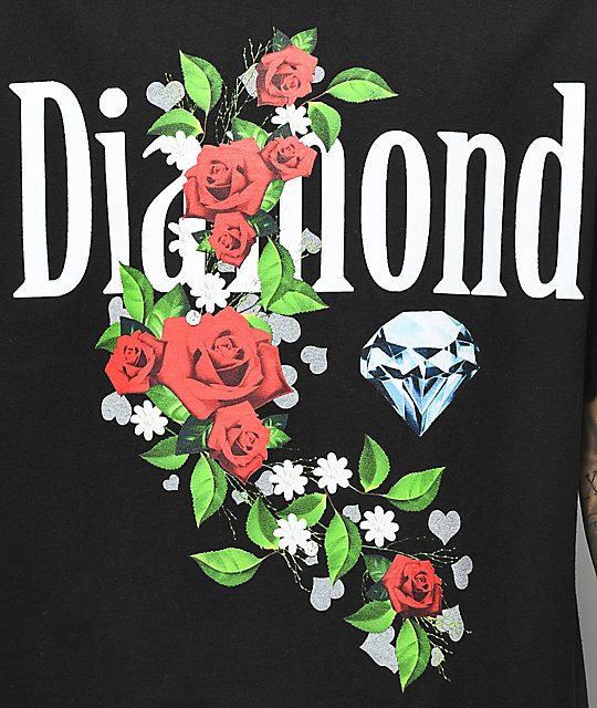 Diamond Supply Co. Garden Jewel camiseta negra