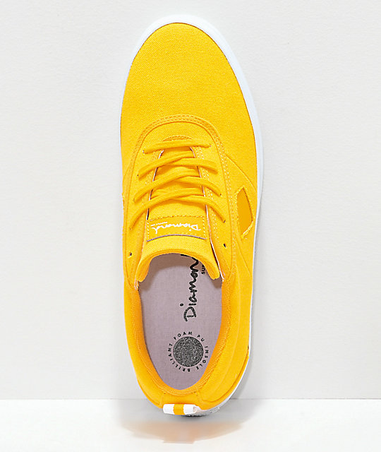 Diamond Supply Co. Icon zapatos de skate de lienzo amarillo