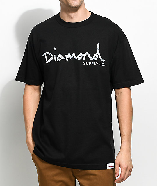 Diamond Supply Co. Infinite OG Script camiseta negra