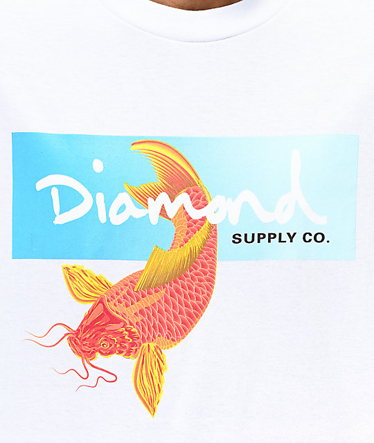 Diamond Supply Co. Koi Box Logo camiseta blanca