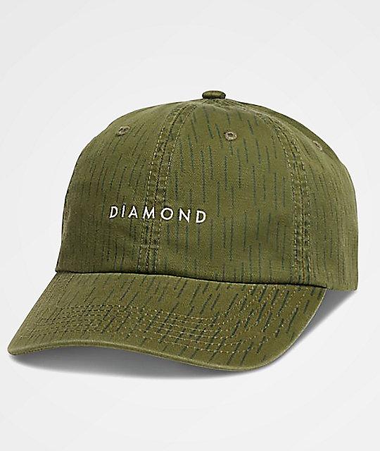 bac1c3ad915 Diamond Supply Co. Leeway Green Camo Baseball Hat