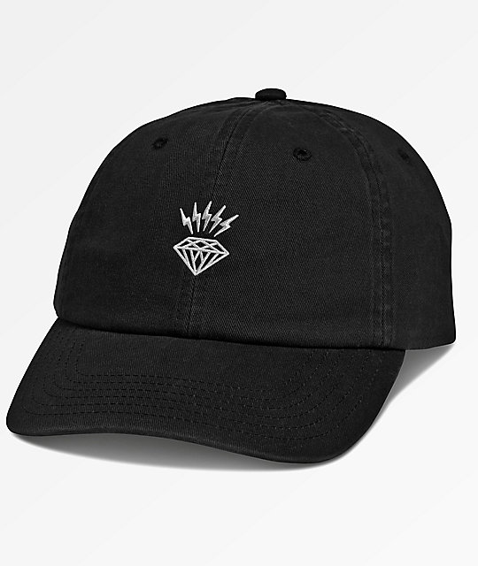 ... official store diamond supply co. lightning black dad hat efe48 dbe4f 2361dc37406