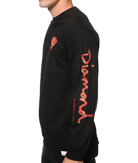 Diamond Supply Co. Low Life Long Sleeve T-Shirt