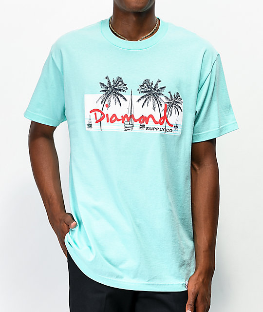 Diamond Supply Co. Marina Box Logo Mint T Shirt
