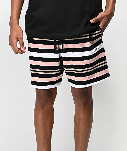 Diamond Supply Co. Marquise Black Sweat Shorts