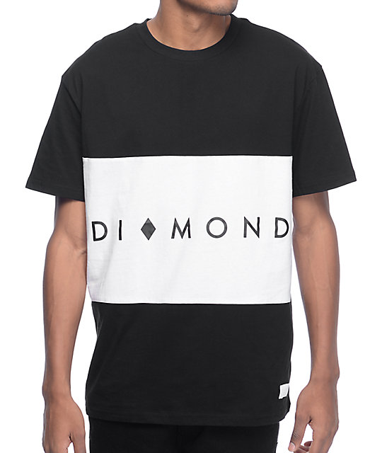 7948ad81a7c0 Diamond Supply Co. Marquise Block Black & White Block Knit T-Shirt | Zumiez