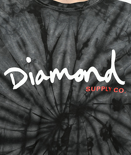 Diamond Supply Co. OG Script Black Tie Dye T-Shirt
