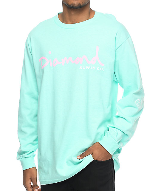 Long Sleeve T-Shirt With Sleeve Prints - White Diamond Supply Company