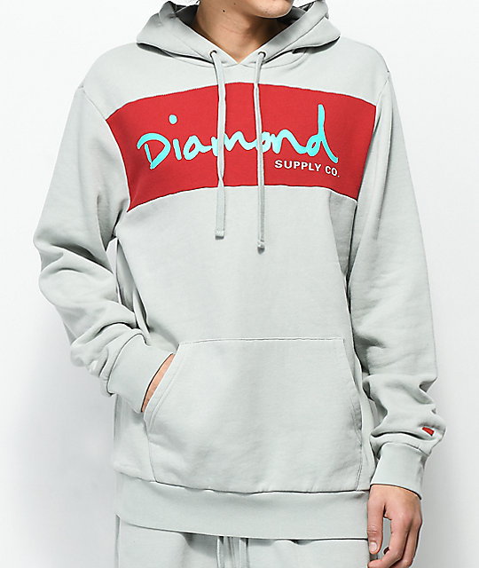 Diamond Supply Co. OG Script Grey Hoodie