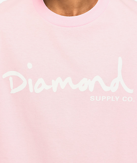 Diamond Supply Co. OG Script Pink T-Shirt