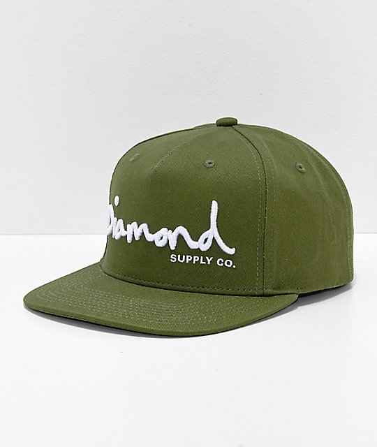 a3e76e5f1e8 Diamond Supply Co. OG Script Snapback Hat