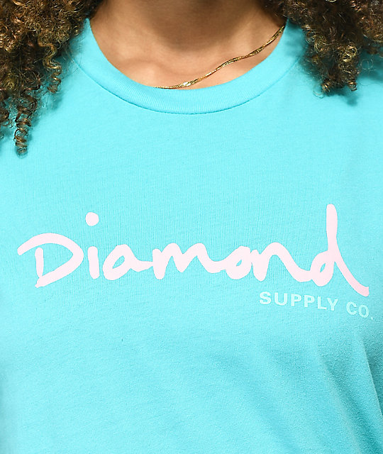Diamond Supply Co. OG Script Turquoise T-Shirt