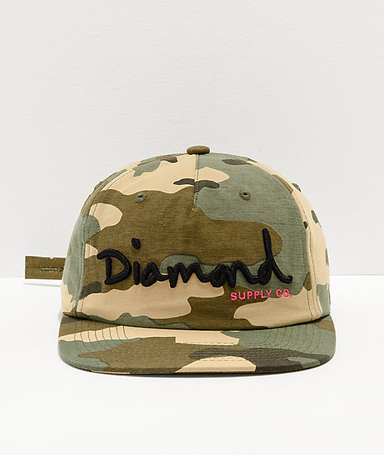 Diamond Supply Co. OG Script gorra de camuflaje