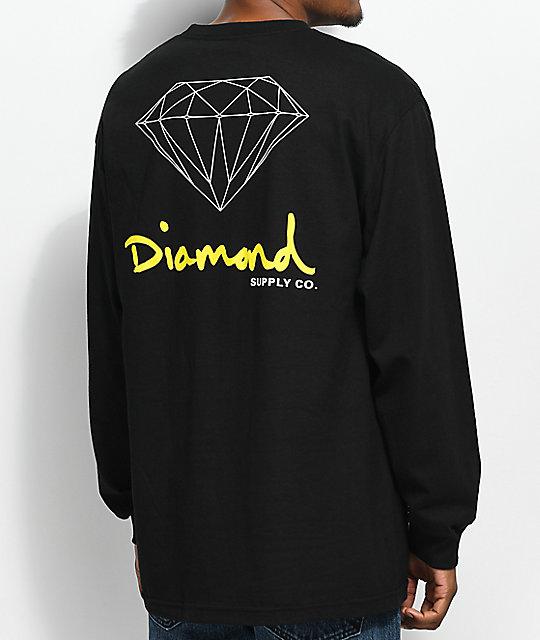 Diamond Supply Co. OG Sign Long Sleeve Black T-Shirt ...