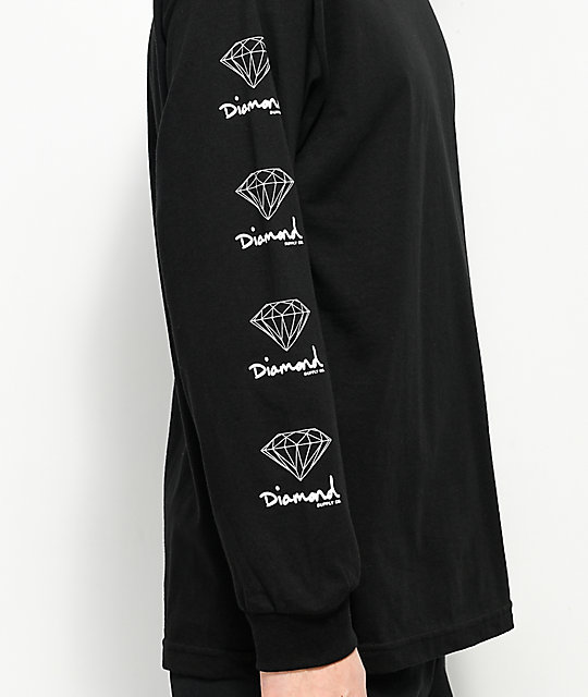 Diamond Supply Co. OG Sign camiseta negra de manga larga
